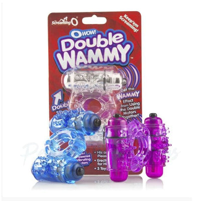 Screaming O Owow Double Whammy Vibrating Cock Ring - Peaches and Screams