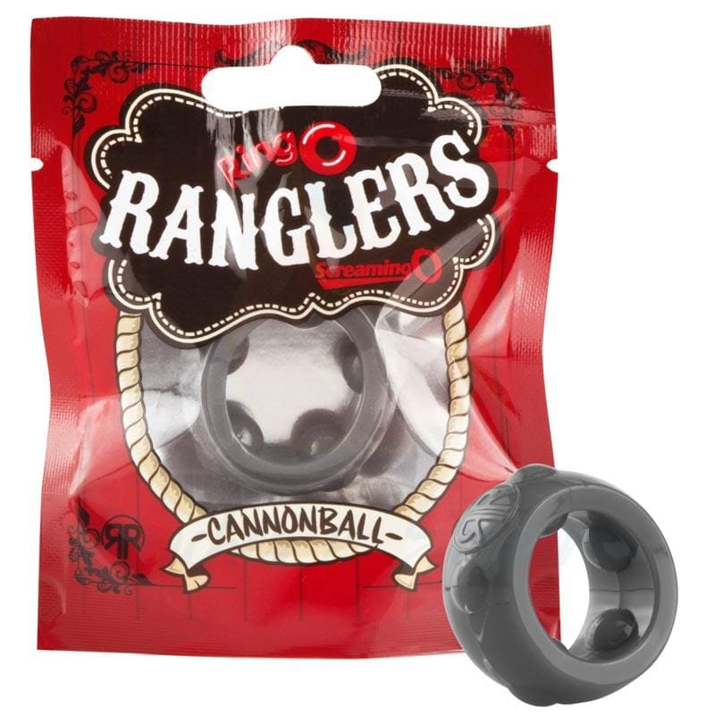 Screaming O Ranglers Cannonball Stretchy Silicone Cock Ring - Peaches and Screams