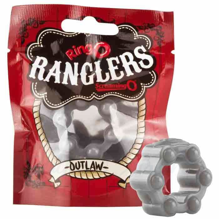 Screaming O Ranglers Outlaw Stretchy Textured Cock Ring - Peaches and Screams
