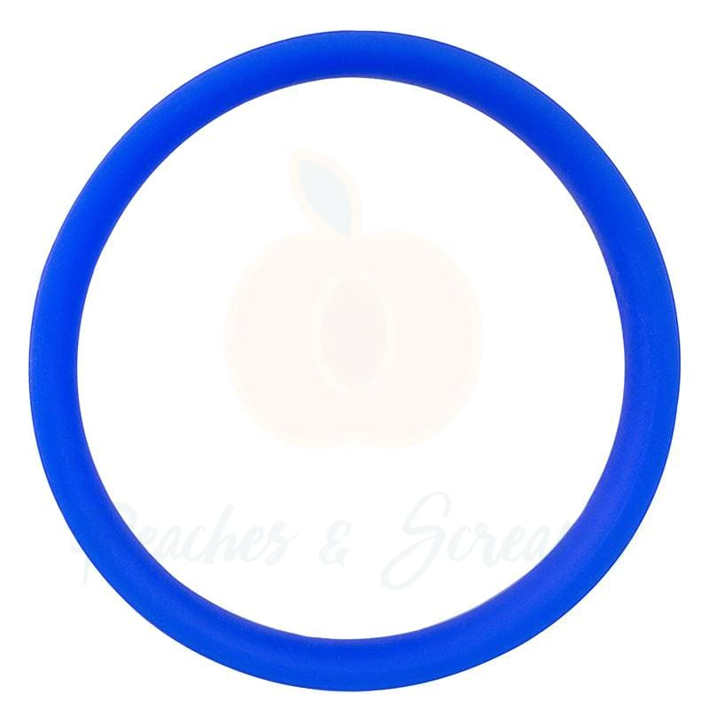 Screaming O RingO Pro Blue XL Stretchy Silicone Cock Ring - Peaches and Screams