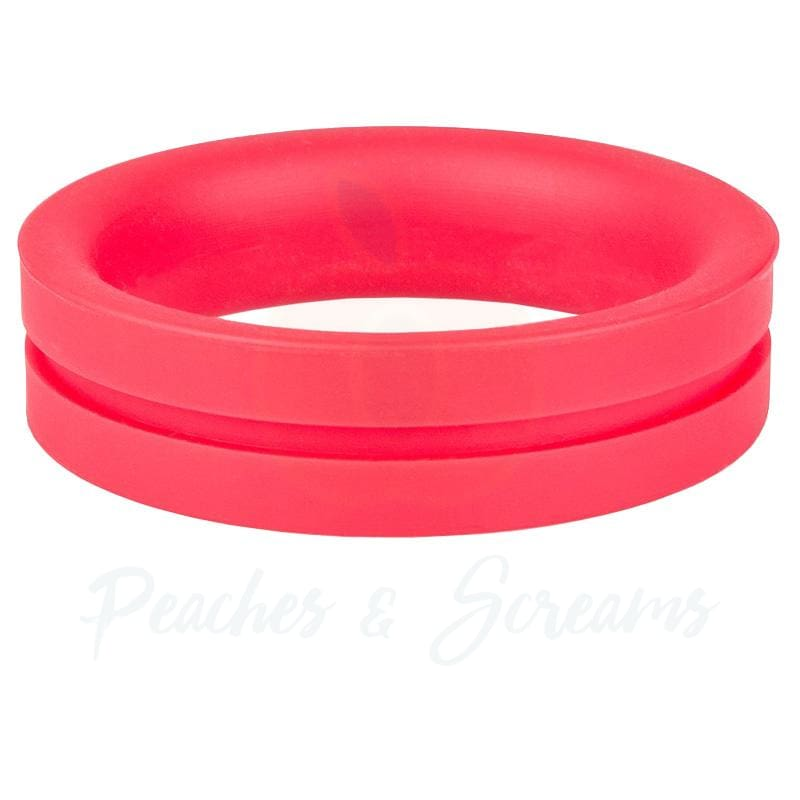 Screaming O RingO Pro Red Stretchy Silicone Cock Ring - Peaches and Screams