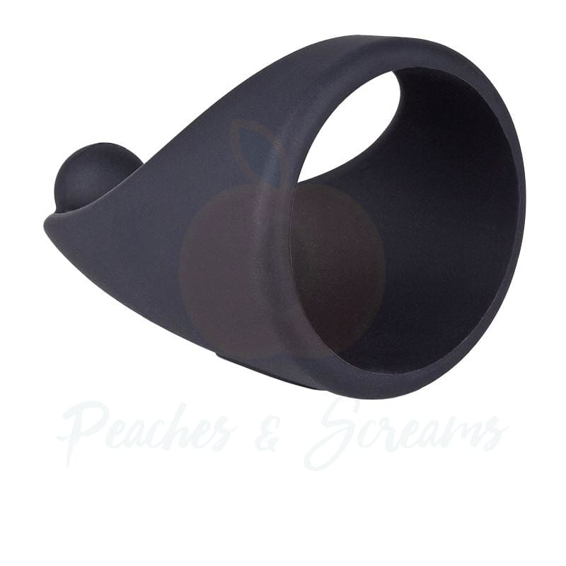 Screaming O SlingO Black Silicone Cock Ring Sling - 🍑 Peaches and Screams