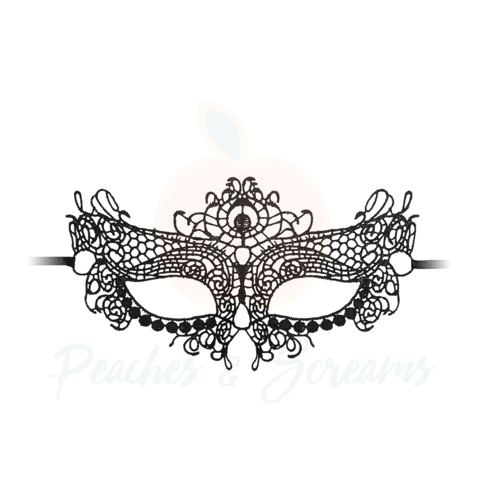 Sexy Black Lace Party Masquerade Queen Eye Mask Women - Necronomicox