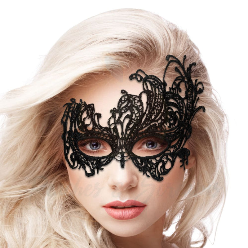 Sexy Black Lace Party Masquerade Queen Venetian Eye Mask Women - Necronomicox