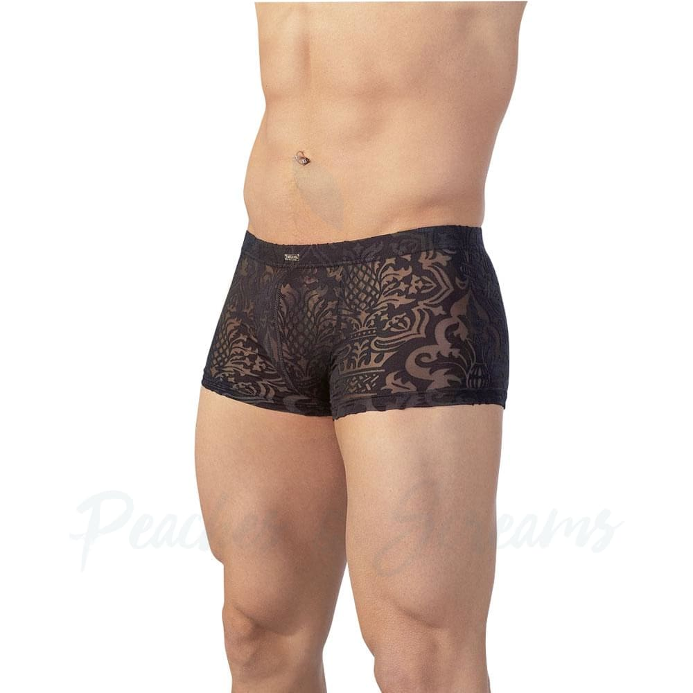 Sexy Black Patterned Brief for Men - 🍑 Peaches and Screams