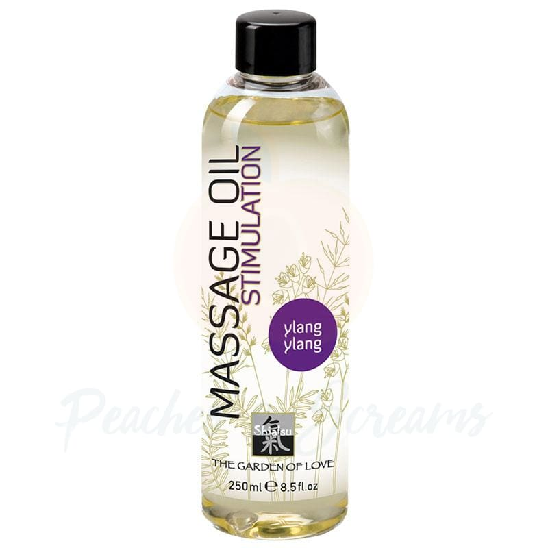 Shiatsu Extase Erotic Body Massage Oil with Ylang Ylang 250ml - Peaches and Screams