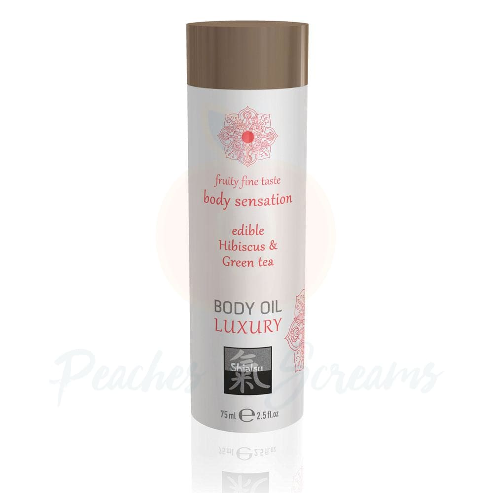 Shiatsu Luxury Edible Erotic Body Oil Hibiscus And Green Tea 75ml - 🍑 Peaches and Screams