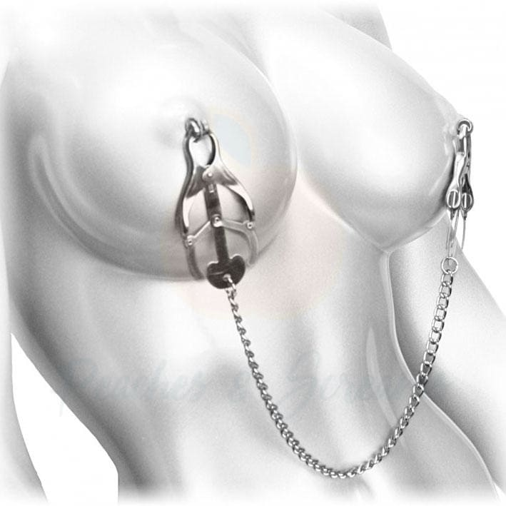 Silver Nipple Clamp Vice for BDSM Bondage Play - 🍑 Necronomicox