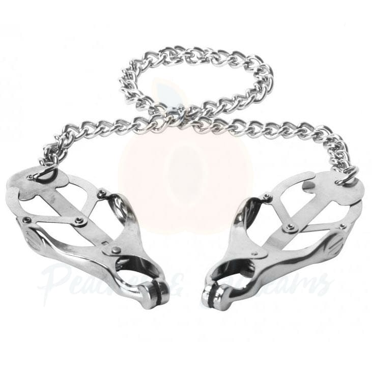 Silver Nipple Clamp Vice for BDSM Bondage Play - Peaches and Screams