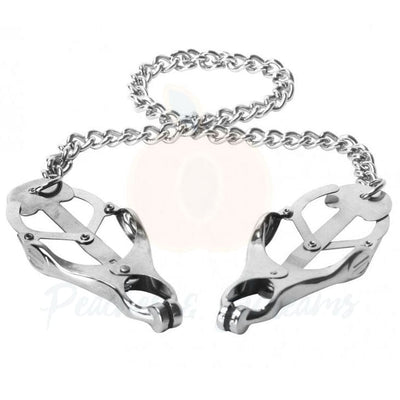 Silver Nipple Clamp Vice for BDSM Bondage Play - Necronomicox