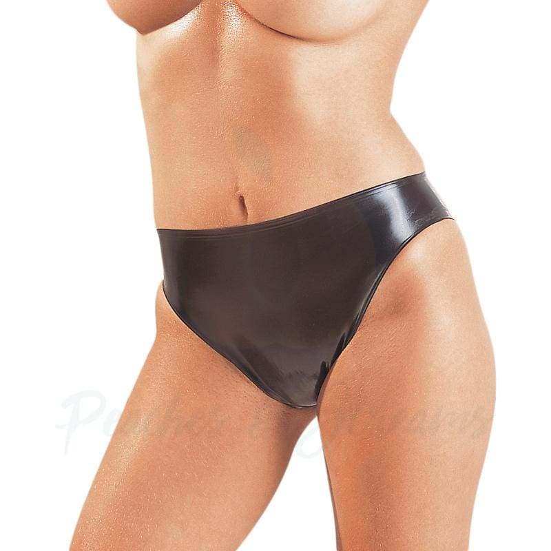 Simple Black Latex Panty Knickers for Her - Peaches and Screams