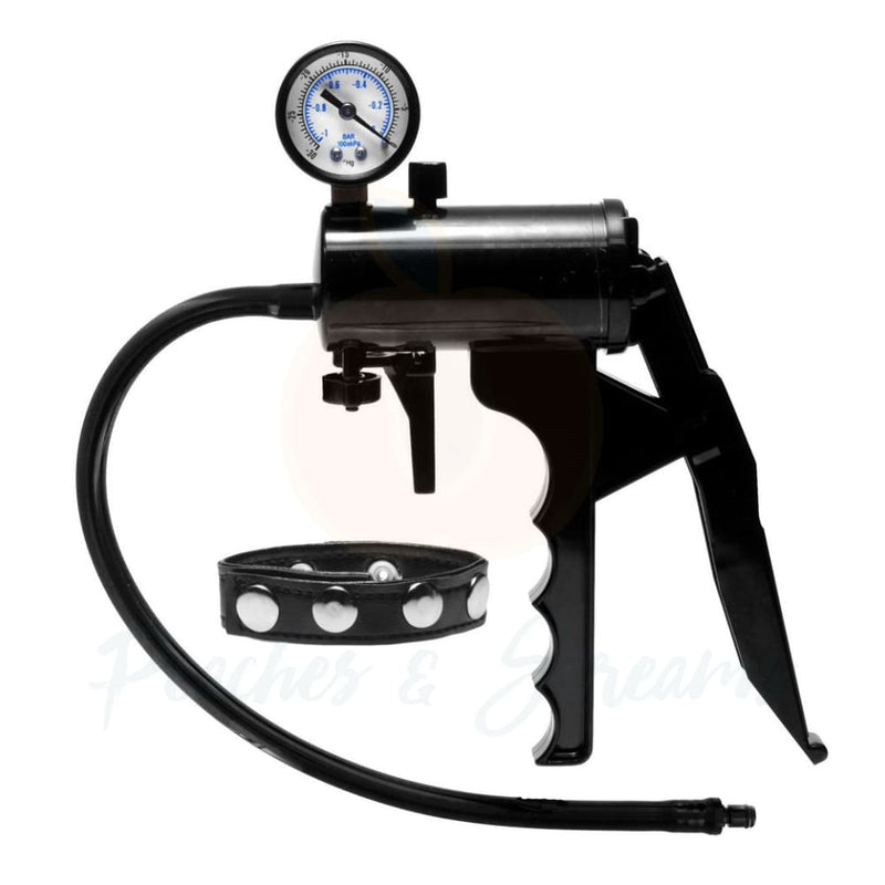 Size Matters Premium Black Pump with Pressure Gauge - Necronomicox