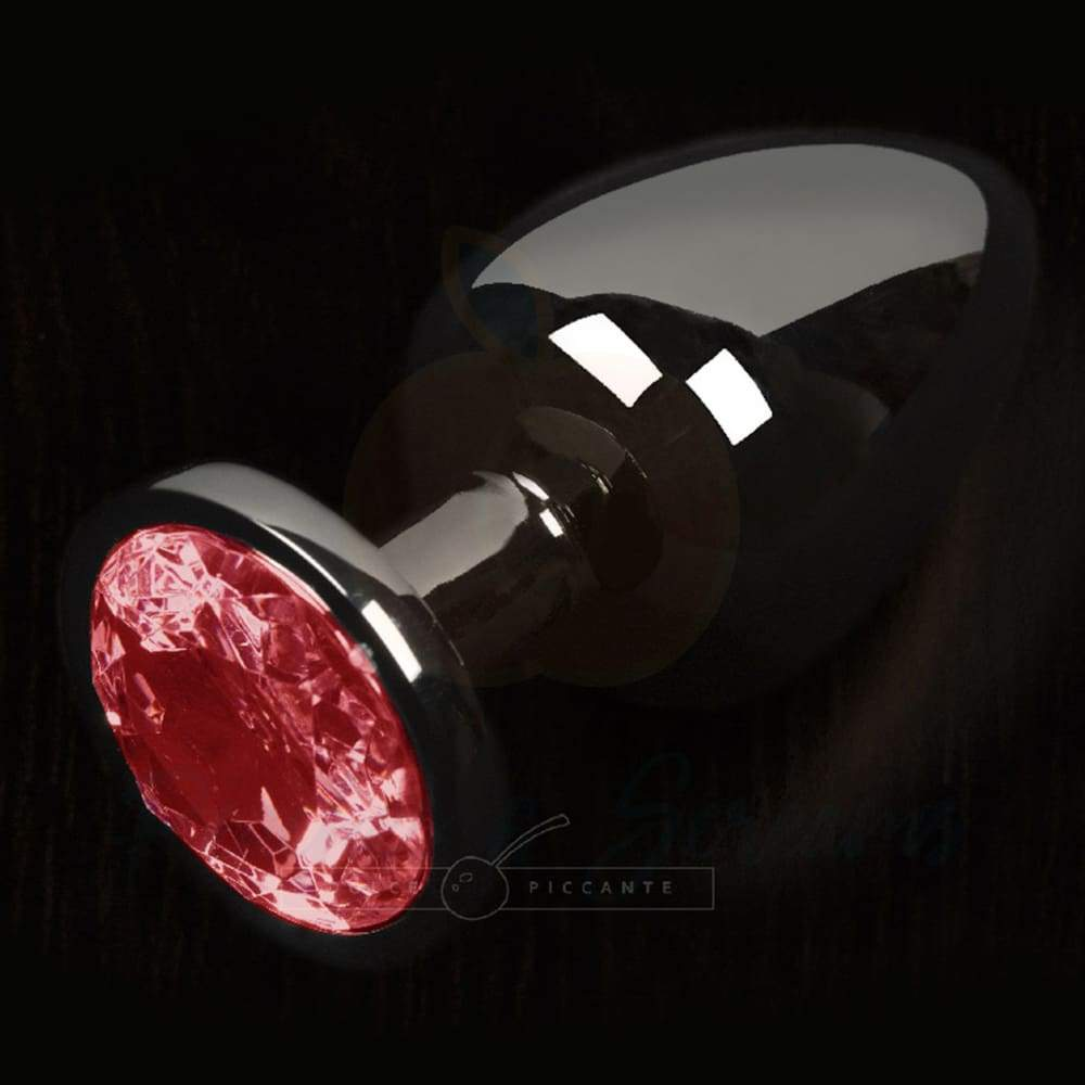 Sparkling Red Gem Small Metal Jewelled Butt Plug - 🍑 Peaches and Screams