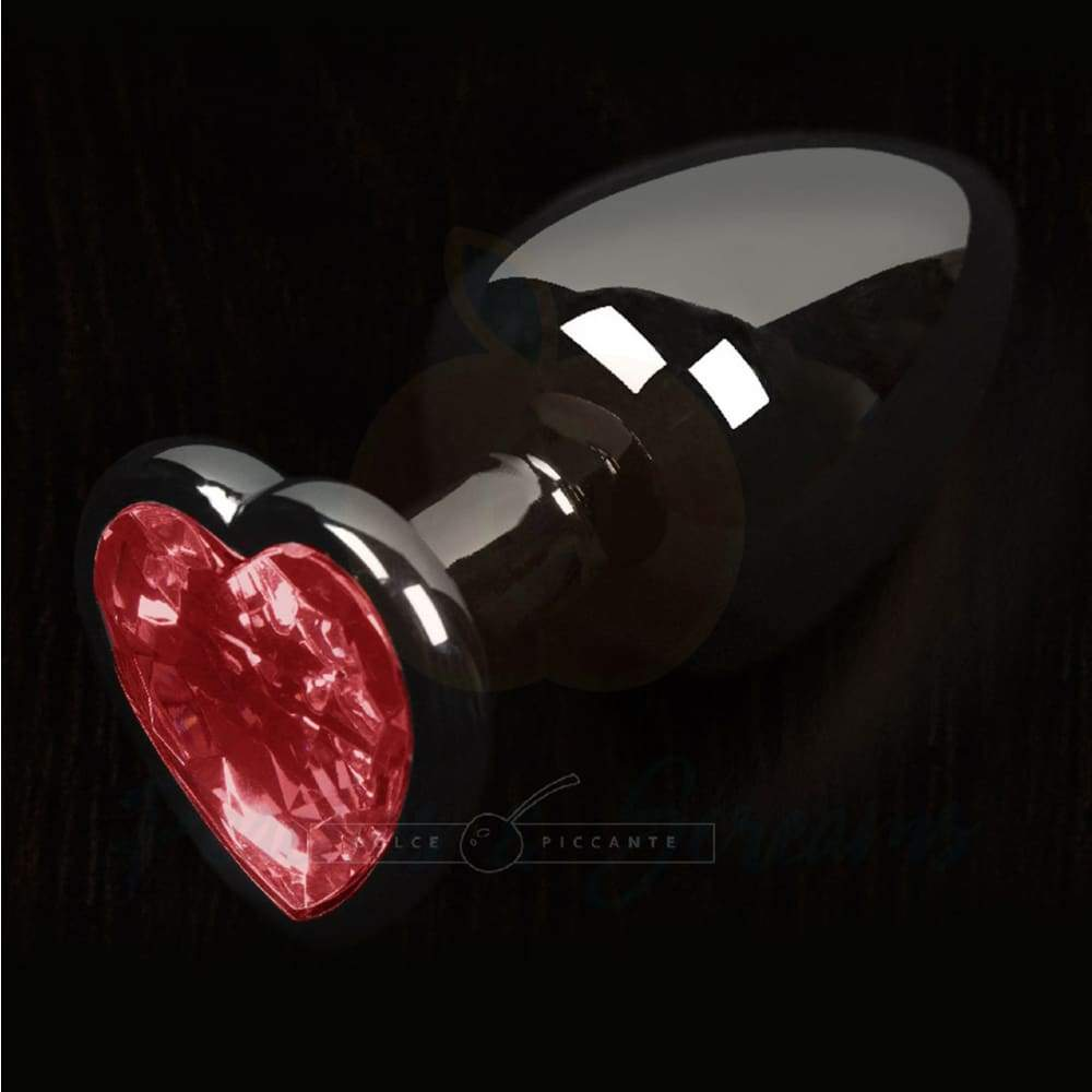 Sparkling Red Heart Gem Small Metal Butt Plug - 🍑 Peaches and Screams