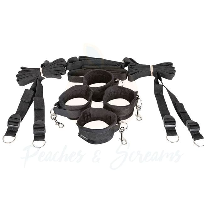 Sportsheets Black Under the Bed Bondage Restraint System - Necronomicox