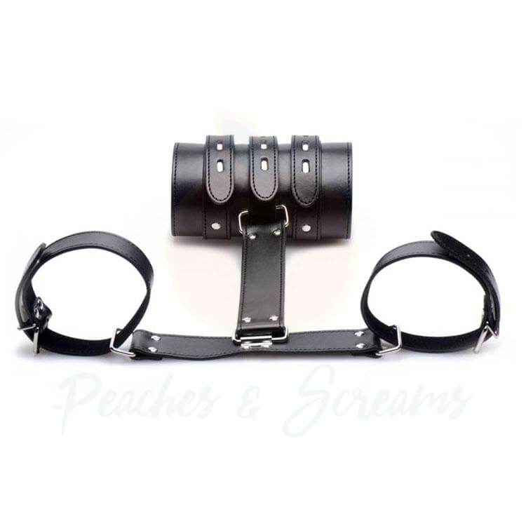 Strict Arm Binder Adjustable T-Shaped Bondage Restraint - Necronomicox