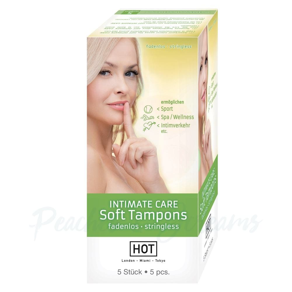 Stringless Hot Intimate Care Soft Tampons for Sport - Peaches and Screams