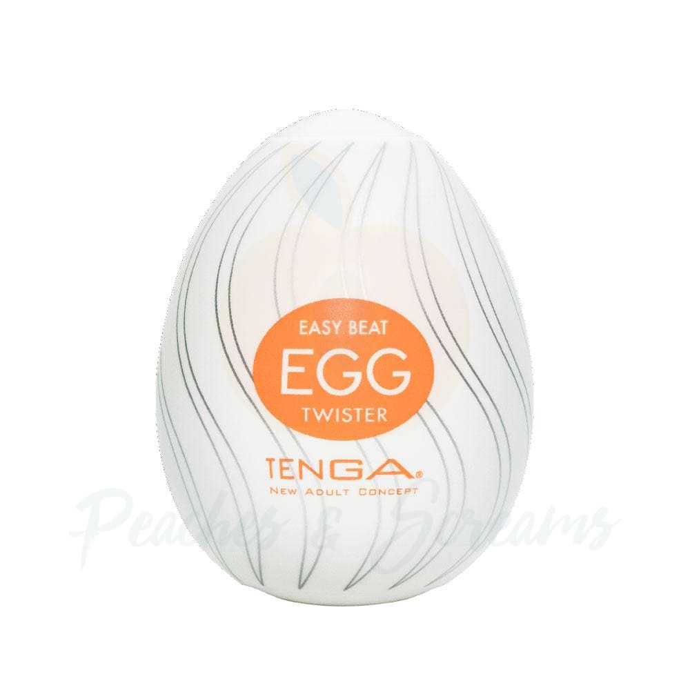 Tenga Stretchy Disposable Twister Egg Male Masturbator - Peaches and Screams