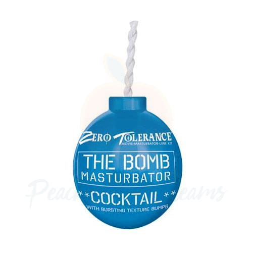 The Bomb Masturbator Blue Cocktail Textured Stroker Sleeve - Necronomicox