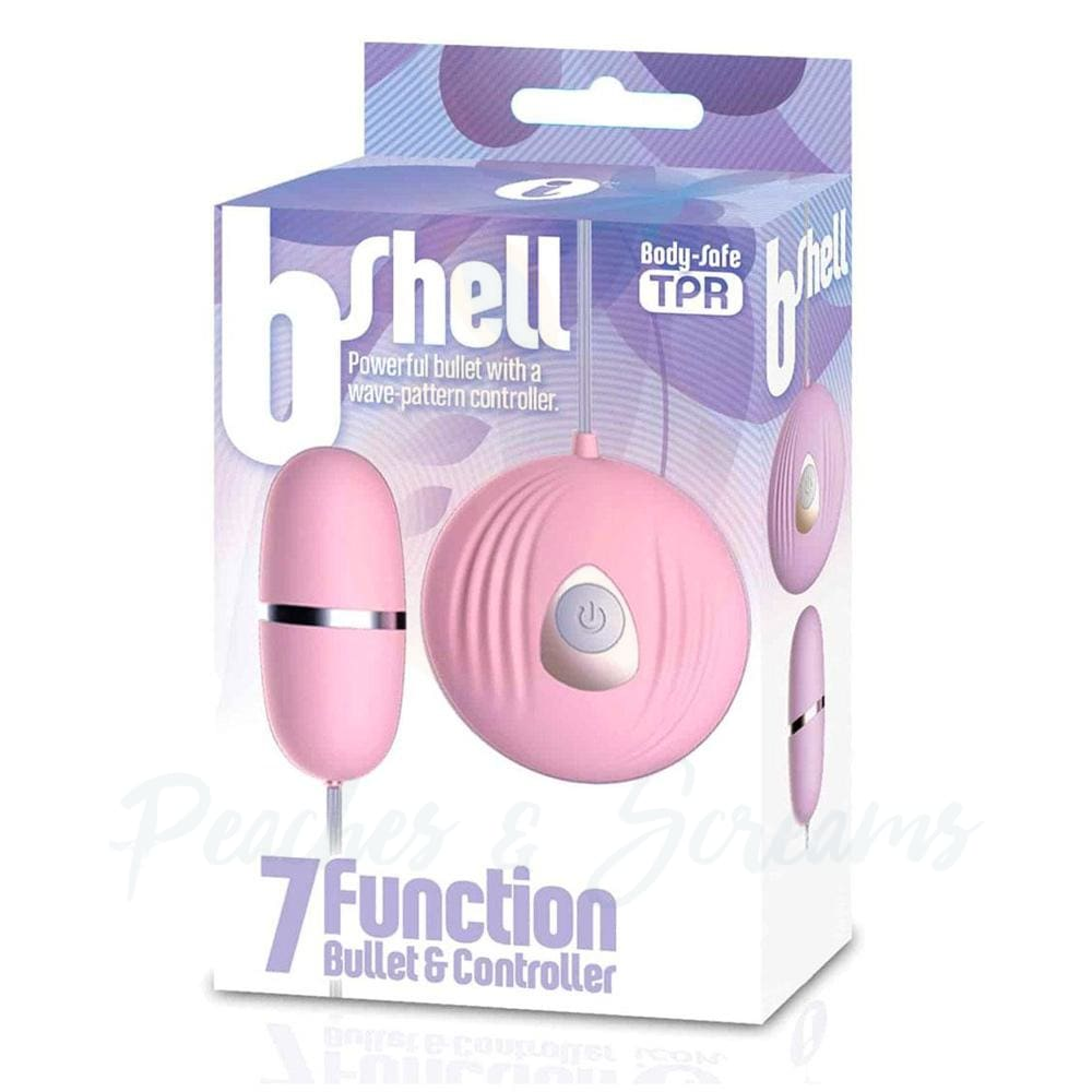 The BShell 7 Function Pink Remote Controlled Bullet Vibrator - 🍑 Peaches and Screams