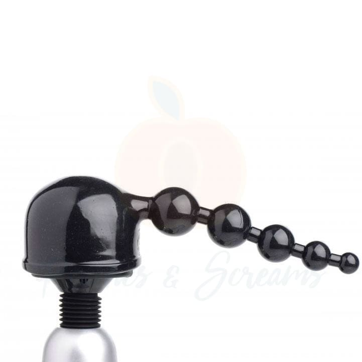 Thunder Beads Black Anal Beads Wand Massager Attachment - 🍑 Peaches and Screams