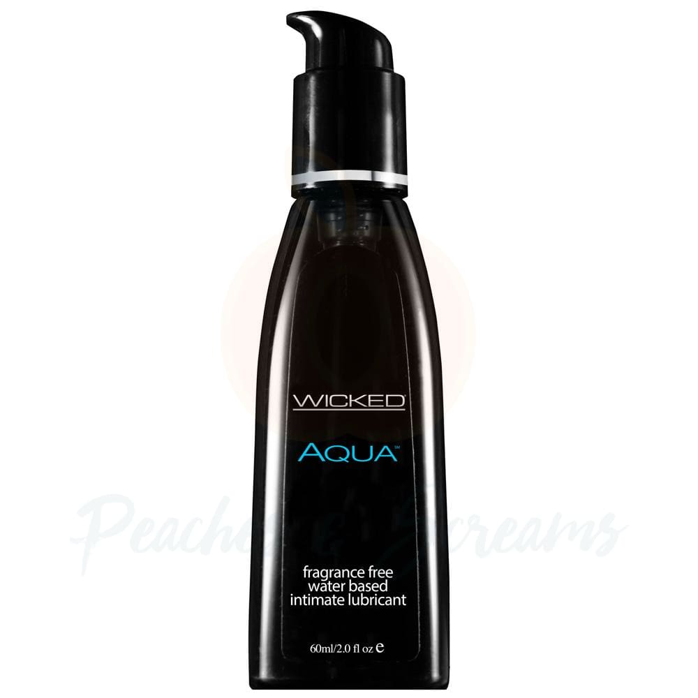 Wicked Aqua Fragrance-Free Water-Based Sex Lubricant 60ml - Peaches and Screams