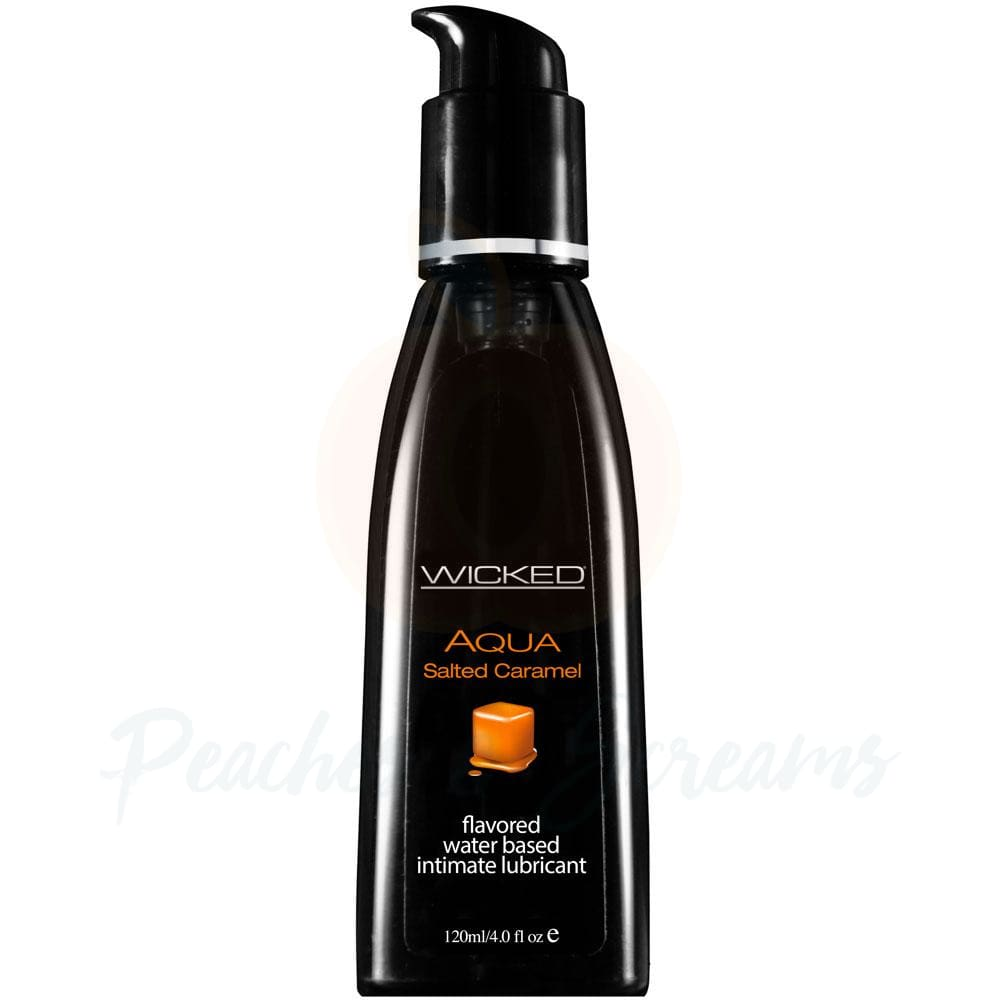 Wicked Aqua Water-Based Salted Caramel Sex Lubricant 120ml - Peaches and Screams