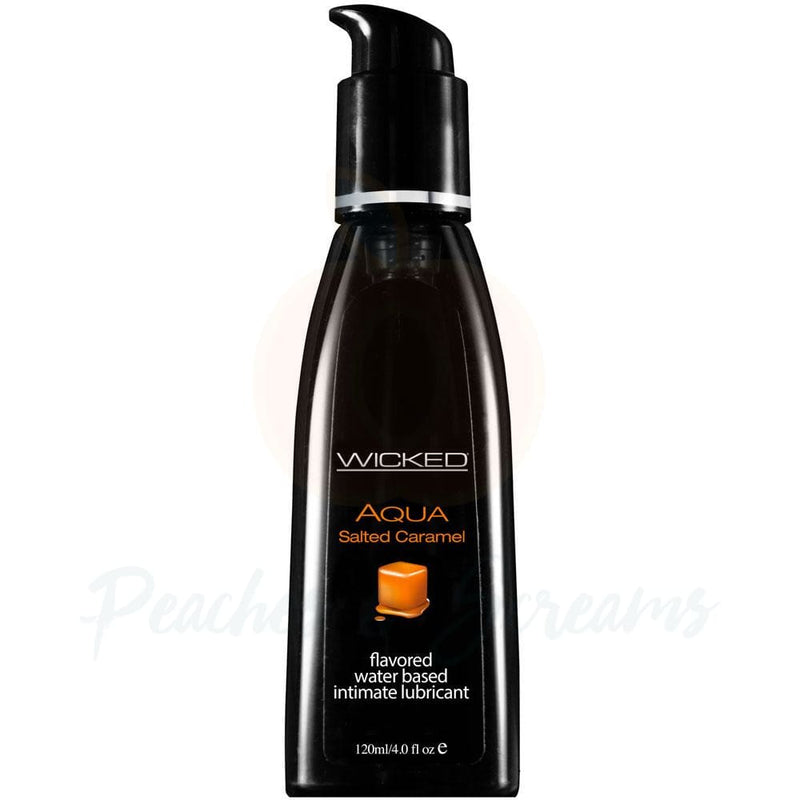 Wicked Aqua Water-Based Salted Caramel Sex Lubricant 120ml - Necronomicox