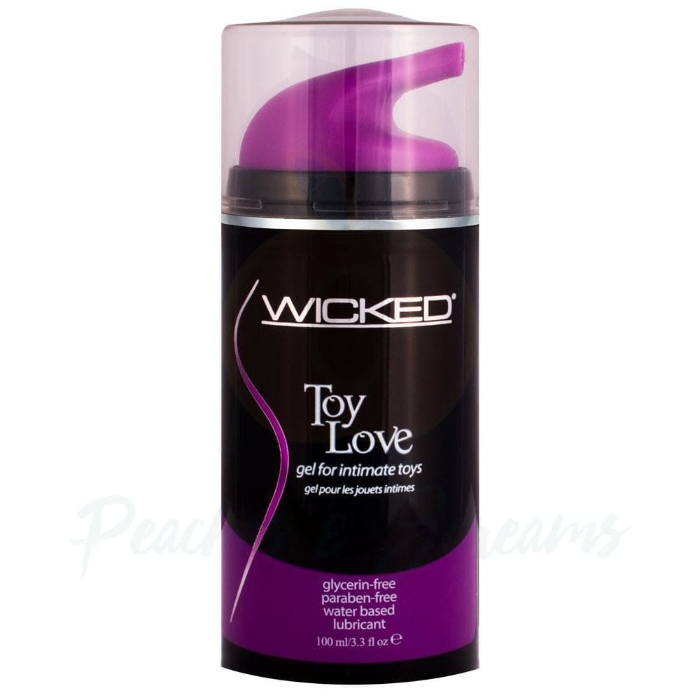Wicked Toy Love Intimate Water-Based Sex Toy Lubricant 100ml - Peaches and Screams