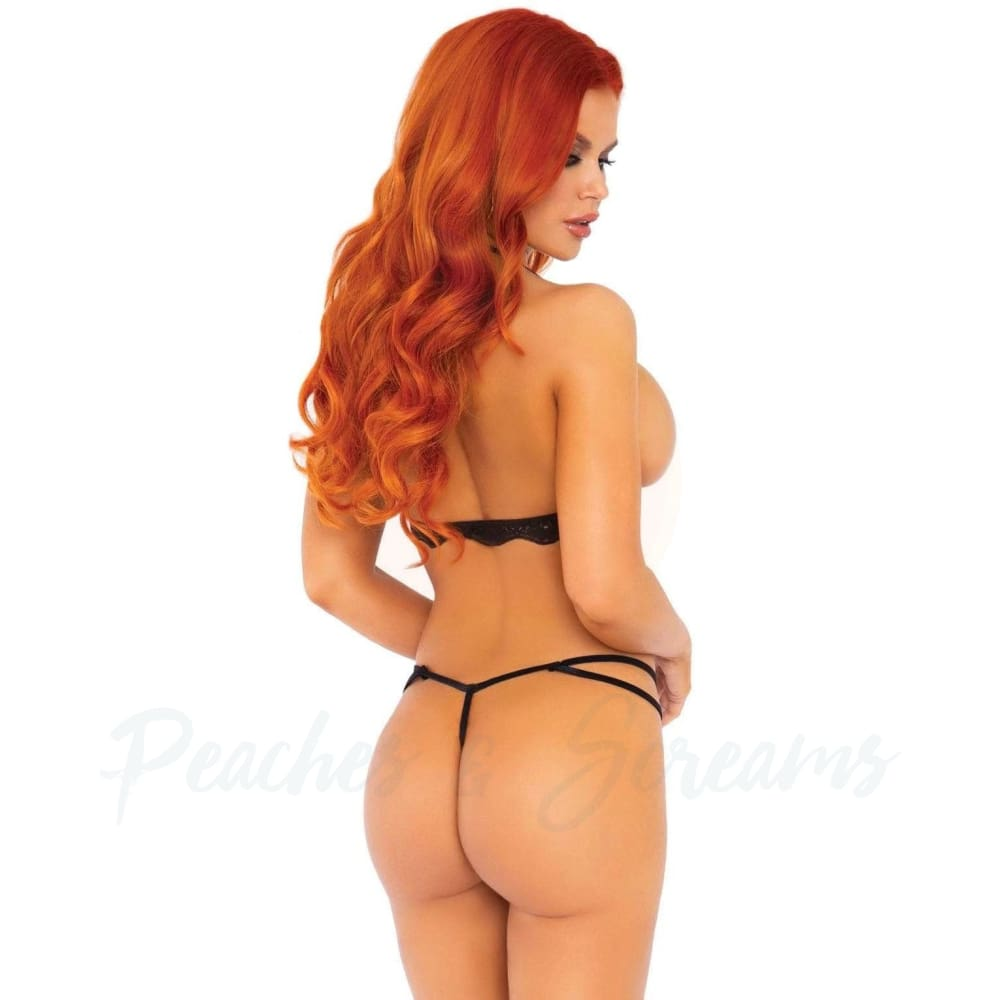 Women's Erotic Lace Cupless GString Teddy Sexy Lingerie UK 8 to 14 - 🍑 Peaches and Screams