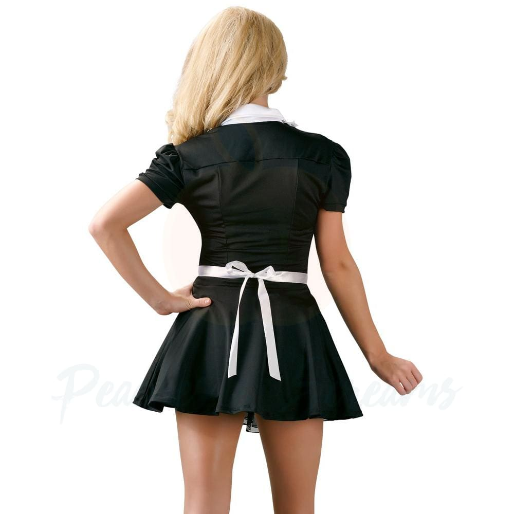 Womens Sexy Black Maids Dress Costume for Adult Roleplay - Small - Necronomicox