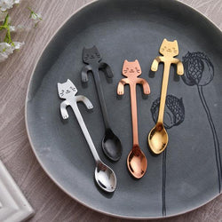 Cute Cat Teaspoon Stainless Steel