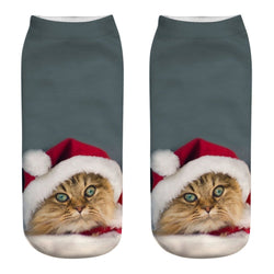 3D Fashion Cat Printed Casual Socks