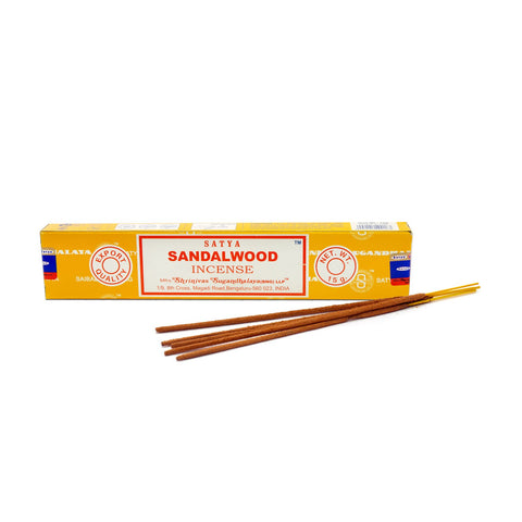 Satya Sandalwood Incense Sticks 15g from Mystical and Magical Halifax