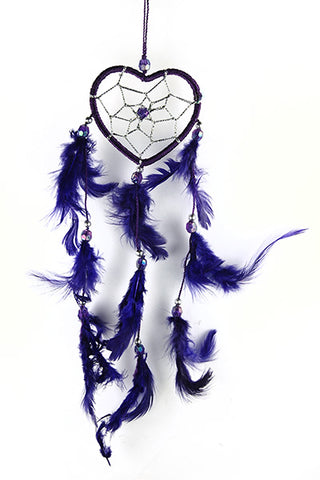 6cm Purple Heart Dreamcatcher Mystical & Magical