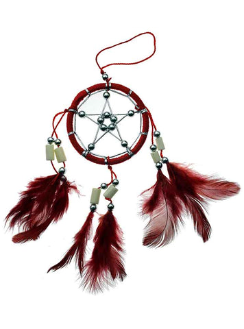6cm Red Pentagram Star Dreamcatcher