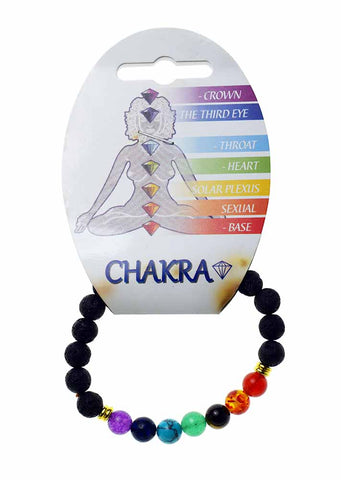 Chakra Bracelet with Lava Stones for Oils
