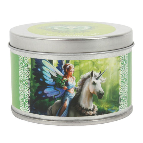 Anne Stokes Realm of Enchantment Unicorn Tin Candle - Jasmine