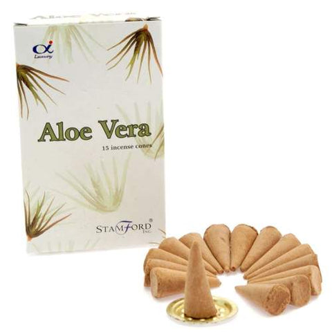 Aloe Vera Stamford Incense Cones from Mystical and Magical Halifax