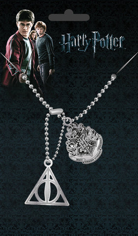Deathly Hallows Hogwarts Necklace