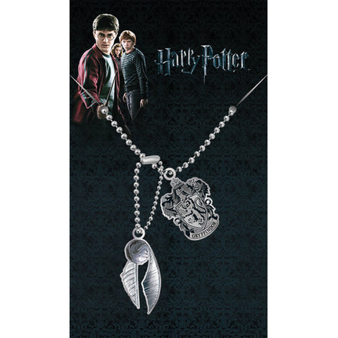 Golden Snitch and Gryffindor Necklace