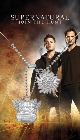 "Supernatural Hell and Back Dog Tags (app 25"")"