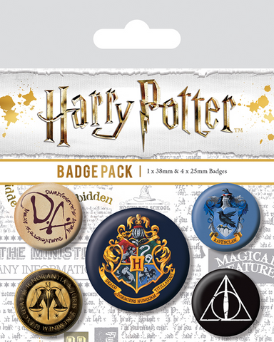 Hogwarts Badge Pack, Ravenclaw, Ministry, Deathly Hallows
