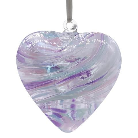 Glass Friendship Heart - Pearl