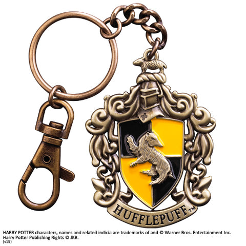 Noble Collection Hufflepuff Crest Metal Keyring - Harry Potter