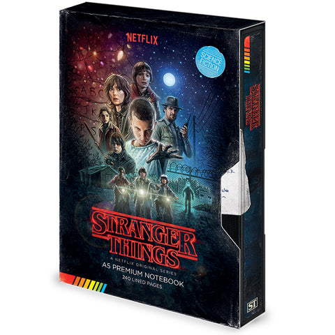Stranger Things Series 1 VHS Notebook