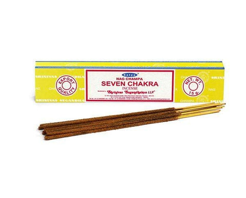 Satya Seven Chakra Incense Sticks 15g from Mystical and Magical Halifax