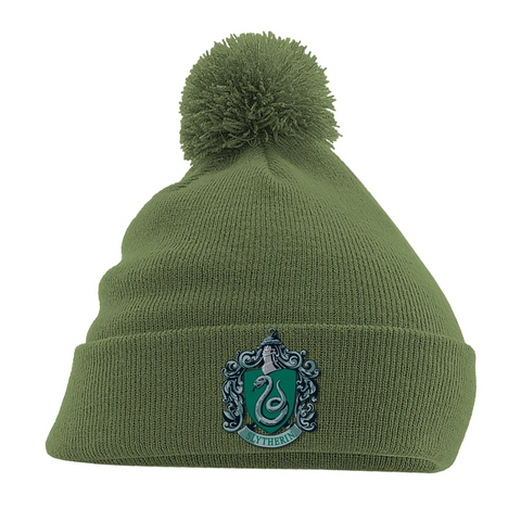 Slytherin Crest Green Bobble Hat
