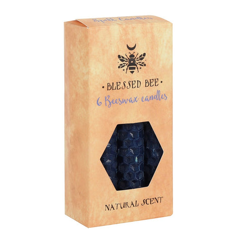 Blessed Bee Blue Beeswax Magic Spell Candles for Wisdom from Mystical and Magical Halifax