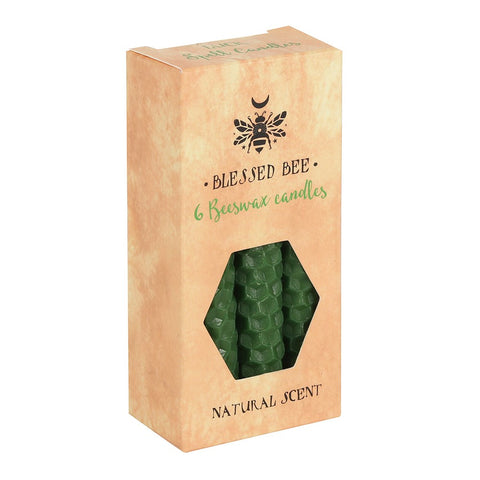 Blessed Bee Green Beeswax Magic Spell Candles for Luck from Mystical and Magical Halifax